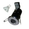 Polished Chrome Die-Cast IP65 GU10 Fire Rated Showerlight Kit
