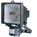 500W Floodlight With PIR In Black