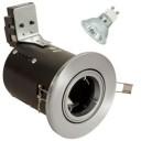 Satin Nickel Die-Cast GU10 Adjustable Fire Rated Downlighter Kit