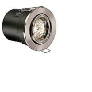 Satin Nickel Low Voltage Adjustable Fire Rated Downlighter Kit
