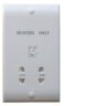 Dual Voltage Shaver Socket In White