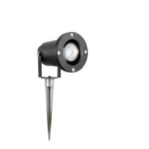 IP65 Rated Outdoor Low Voltage Spike Spotlight In Black
