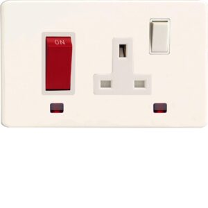 Varilight XDQ45PNWS 45A Cooker Panel With Neon And 13A Switched Socket