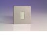 Varilight 13A Unswitched Fuse Spur In Brushed Steel With White Insert XDS6UWS