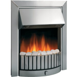Dimplex DLS20 Delius Stainless Steel Effect Electric Inset Fire