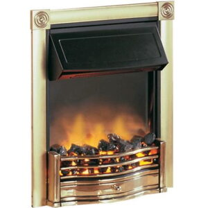 Dimplex HTN20BR Horton 2kW Optiflame Effect Electric Fire In Brass