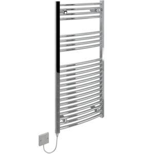 Kudox KTR250STDCHR Curved Electric Ladder Towel Rail In Chrome