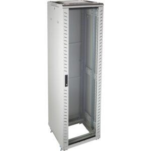 Excel 542-4266-GSBN-GW 42u Floor Standing Data Cabinet In Grey White Complete With Castor Wheels