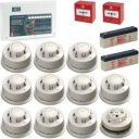 AlarmSense 8 Zone 2 Wire Fire Alarm Kit With A C-Tec Panel