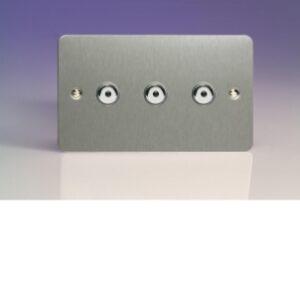 Varilight Ultraflat IJFSI103 V-Pro IR 3 Gang 1 Way Remote Control Master LED Touch Dimmer