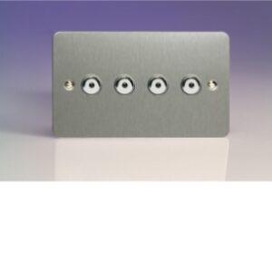 Varilight Ultraflat IJFSI104 V-Pro IR 4 Gang 1 Way Remote Control Master LED Touch Dimmer