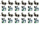 Pack Of 12 White Fixed Mains Voltage GU10 Downlights With Warm White LED Lamps