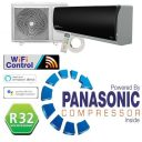 KFR26-YW/AG 9000 BTU (2.7kW) Black Gloss Inverter Wall Split Air Conditioning Unit Powered By A Panasonic Compressor