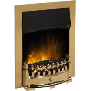 Dimplex STM20 Stamford Optiflame Effect Electric Inset Fire In Brass