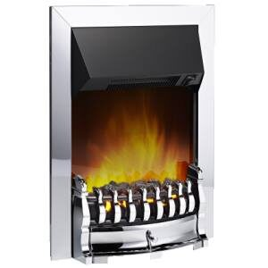 Dimplex STM20CH Stamford Optiflame Effect Electric Inset Fire In Chrome