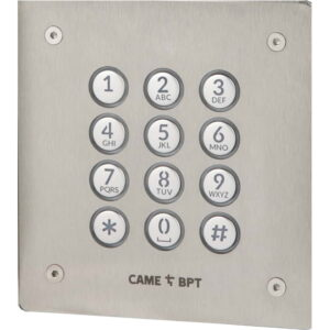 BPT Marine Grade Brushed Stainless Steel Flush Mounted Vandal Resistant Keypad With Coded Access