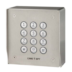BPT Marine Grade Brushed Stainless Steel Surface Mounted Vandal Resistant Keypad With Coded Access